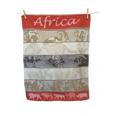 Africa red tea towel