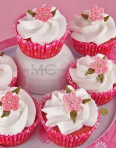 cupcakes o bizcocho de fresa