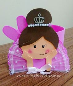 Centro de mesa bailarina                                                                                                                                                                                 Más Kids Crafts, Foam Crafts, Diy And Crafts, Arts And Crafts, Paper Crafts, Ballerina Birthday, Girl Birthday, Birthday Parties, Ideas Para Fiestas