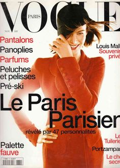 Meghan Douglas by Michael Thompson on the cover of Vogue Paris November 1996 Vogue Magazine Covers, Vogue Covers, 90s Models, Fashion Models, Karl Lagerfeld, Michael Thompson, Magazine Mode, Vogue Us, Vogue Australia