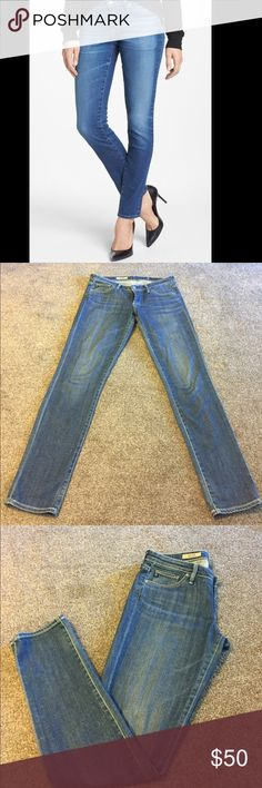 AG Stilt Denim Adriano Goldschmied AG jeans in the Stilt cigarette leg Denim. No signs of wear except for one (see pic). Very slight mark at lower part of Denim (below the knee). Other than that they're perfect! Ag Adriano Goldschmied Jeans Skinny