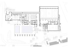 Sports Centre in Leonberg,Floor Plan