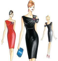 F3127 | Marfy Dress | Dresses | Kwik Sew Patterns