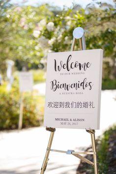 Orlando Summer Outdoor Wedding - welcome sign