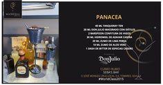 Panacea: Receta presentada por Curro Rubio para la competición de coctelería #WorldClass2015 con Tequila Don Julio. Podrás probarla en calle José Monge Cruz, Tomares