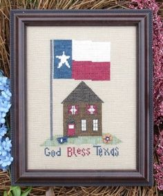 God Bless Texas - Cross Stitch Pattern