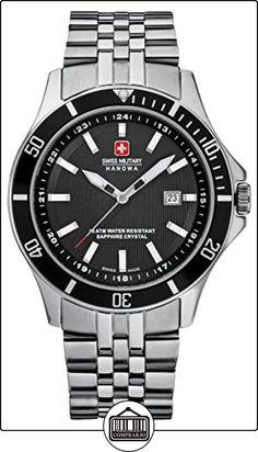 Swiss Military 06-5161.7.04.007 - Reloj analógico de cuarzo para hombre con correa de acero inoxidable, color plateado de  ✿ Relojes para hombre - (Gama media/alta) ✿