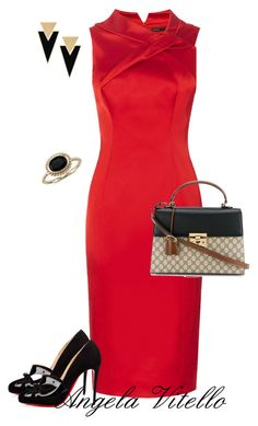 Untitled #798 by angela-vitello on Polyvore featuring polyvore, moda, style, Christian Louboutin, Gucci, Yves Saint Laurent, Blue Nile, fashion and clothing