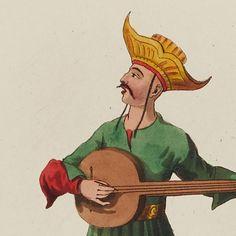 Saz Player by Octavien Dalvimart (Paris, 1814)