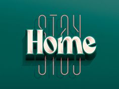 Stay Home by Jonathan Ortiz Neon Signs, Home, Design, House, Ad Home, Homes, Design Comics, Haus