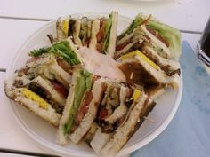 A HUGE club sandwich from a trattoria at Lido di Jesolo (Jesolo Beach), north of Venice. Venice, Dancing, Sandwiches, Yummy Food, Italy, Club, Drinks, Beach, Ethnic Recipes