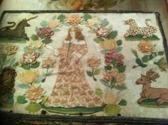 Casket, Tapestries, 17th Century, Needlepoint, Hand Embroidery, Mirrors, Needlework, Vintage World Maps, Projects To Try