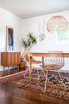 Love everything but what's with the animal heads on walls trend? Not a fan. Would only like the wool? rug if it's vintage.