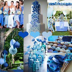 Blau Ombre Hochzeitsidee