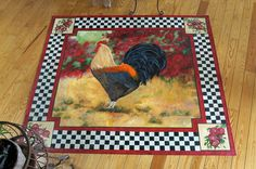 This is not a rug. It's  painted floor cloth.  I'm coveting.....