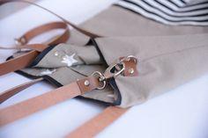 Canvastaschen - CANVAS Tasche beige mit Streifen - ein Designerstück von hollyundhoney bei DaWanda
