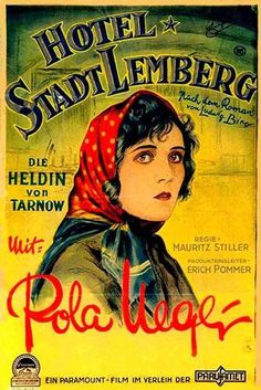 German theatrical poster for the 1927 silent film Hotel Imperial.