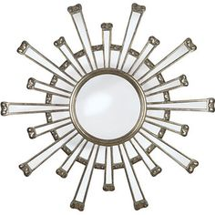 @Overstock.com - Adriano Antique Gold Finish Wall Mirror - This stunning silver wall mirror will add instant elegance to your room. The funky design makes this an artistic feature in addition to its functional reflective properties. The mirror can brighten up your home by reflecting wall or ceiling lights.  http://www.overstock.com/Home-Garden/Adriano-Antique-Gold-Finish-Wall-Mirror/5112997/product.html?CID=214117 $147.99