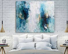 Hand Painted Large Original Painting Abstract Art Acrylic
