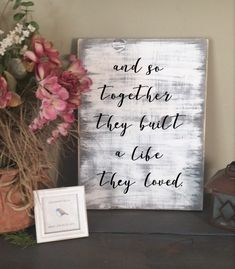 And so together $20 rustic and farmhouse style sign #farmhouse #rustic #homedecor
