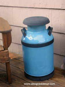 Re-purposing an Antique Milk Can | Designed Decor