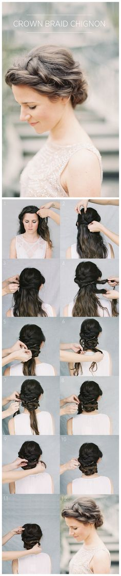 #Diy #Crown #Braid #Chignon #Tutorial