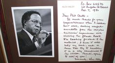 "Alex Haley Signed Manuscript letter regarding ""ROOTS""  1980 $559"
