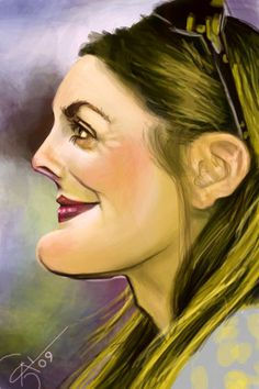 Cartoon: Drew Barrymore (medium) by salnavarro tagged finger,painted,caricature,drew,barrymore,hollywood,icon