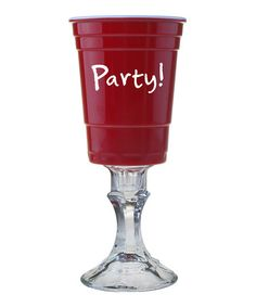 Look at this #zulilyfind! 'Party!' Faux Plastic Footed Cup by Susquehanna Glass #zulilyfinds