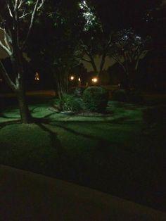Dallas Tree Lighting installation - Moonlighting. Call Dallas Landscape Lighting 214-202-7474 or http://www.dallaslandscapelighting.net #houselights #dallas #parkcities #downlights #moonlighting #treelights #frisco #plano