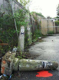Paaltjes street art