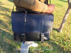 Leather Briefcase Men Black Leather by ChristinaChristiJls on Etsy