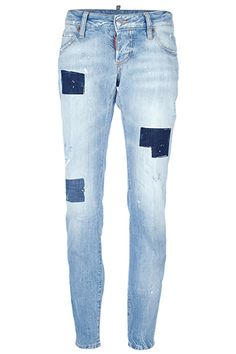 DSquared2 Cool Girl Patchwork Jeans, $522, available at Farfetch.