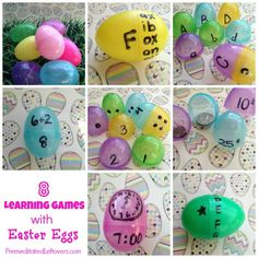 Learning Games Using Plastic Easter Eggs - 8 educational games using Easter Eggs that you can use to help your child master math, reading and other skills.