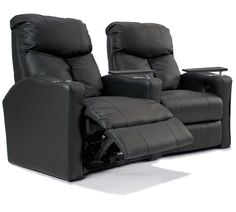 Octane Seating XS400 Bolt Theater Seating with Power Recline and Black Top Grain Premium Leather