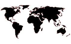 Carte du monde Papier peint DIY -