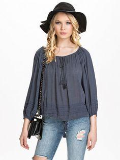 Peasant Shirt - Denim & Supply Ralph Lauren - Blue - Blouses & Shirts - Kleding - Vrouw - Nelly.com