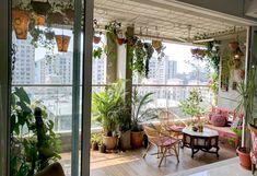 A Balcony Garden In Mumbai: Terrace Reveal - terrasse French Balcony, Modern Balcony, Small Balcony Design, Small Balcony Garden, Small Balcony Decor, Balcony Ideas, Balcony Gardening, Plants For Balcony, Small Terrace
