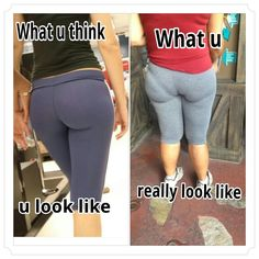 Yoga pants + Panty lines = FAIL.