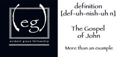 Join Evident Grace February 1st as we week greater Definition from the Gospel of John