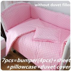 42.80$  Buy here - http://alixh7.worldwells.pw/go.php?t=32395649119 - Promotion! 6/7PCS Baby Nursery Crib Kit Bedding Set Duvet Cover ,Cot Set ,120*60/120*70cm 42.80$