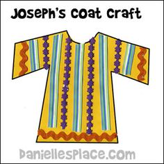 Joseph's Colorful Coat Craft for Children from www.daniellesplace.com