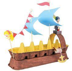 14 Adımda Yumurta Kolisinden Yelkenli Gemi Yapımı