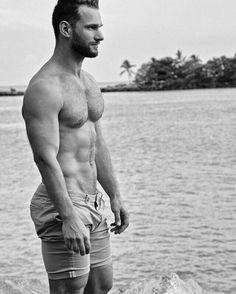 #Bart #Muskeln #Kerl #Meer