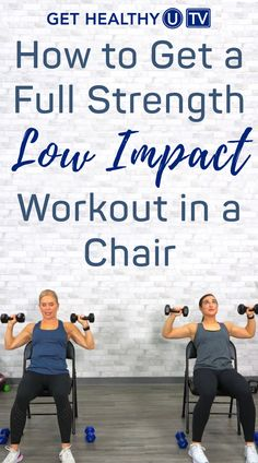 Fitness Workout For Women, Fitness Diet, Health Fitness, Toning Workouts, Easy Workouts, Chair Exercises, Core Exercises, Stretches, Strength Program