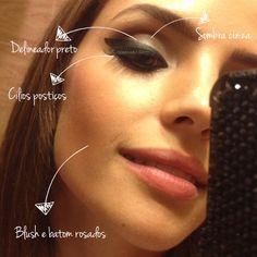 A maquiagem de Carol Celico, feita por ela mesma!