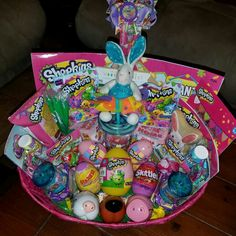 Inside of Hayleigh's Shopkins basket