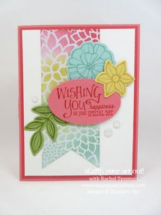 Falling Flowers Special Day Card.… #stampyourartout - Stampin' Up!® - Stamp Your Art Out! www.stampyourartout.com