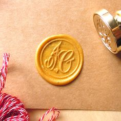Two Initials Monogram Stamps Wax Seal Stamp Custom Order