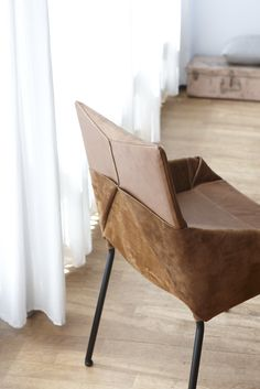 Chair Inside Out created by young designer Tom Dissel; both sides of leather are to beautiful to hide.